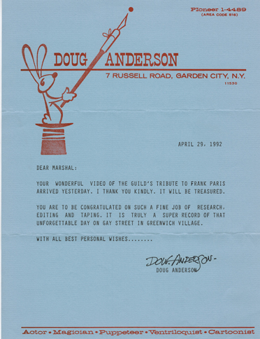 Doug Anderson Puppeteer